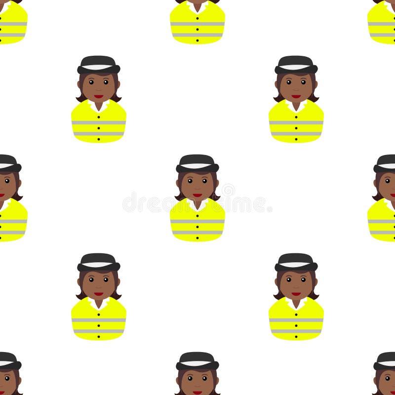 Modèle sans couture de lucette d'avatar noir de fille illustration libre de droits
