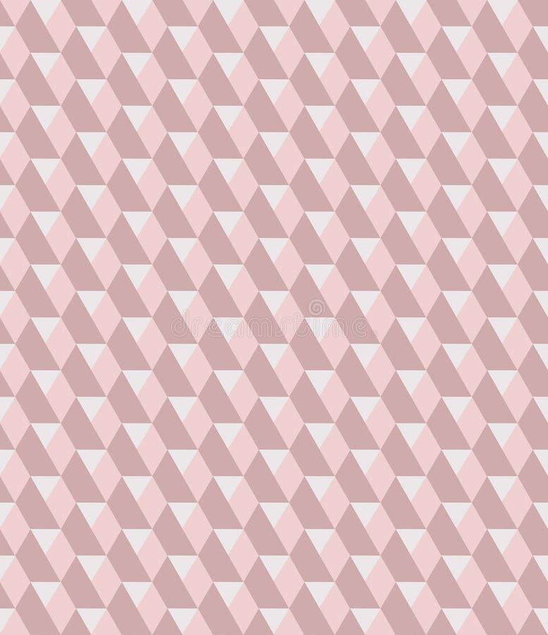 Modèle sans couture de luxe de rose et de répétition d'hexagones gris-clair de diamant illustration stock