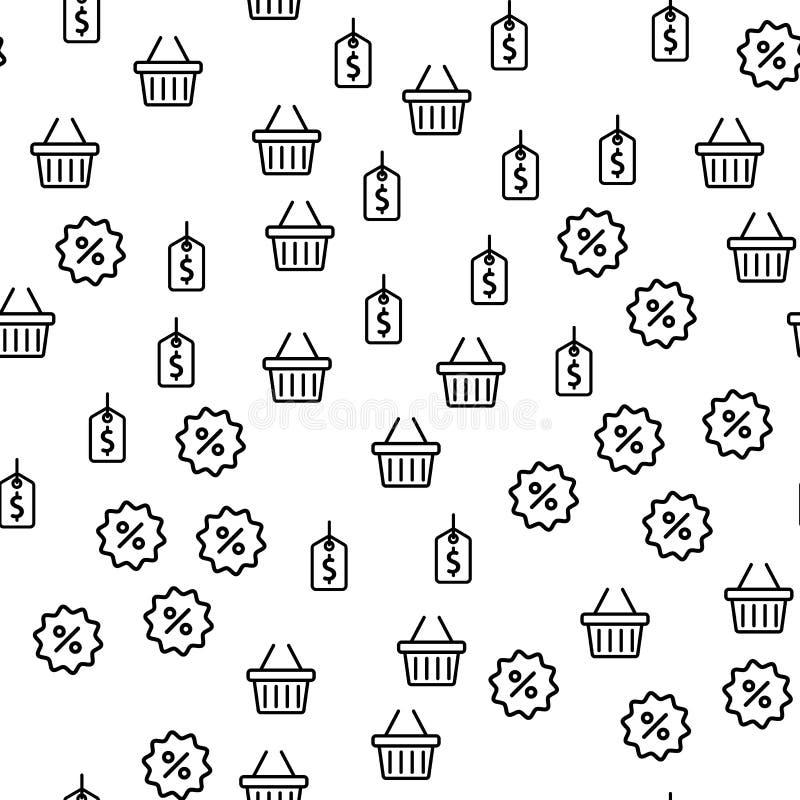 Modèle sans couture de magasin des prix d'offre de saison de remise illustration libre de droits