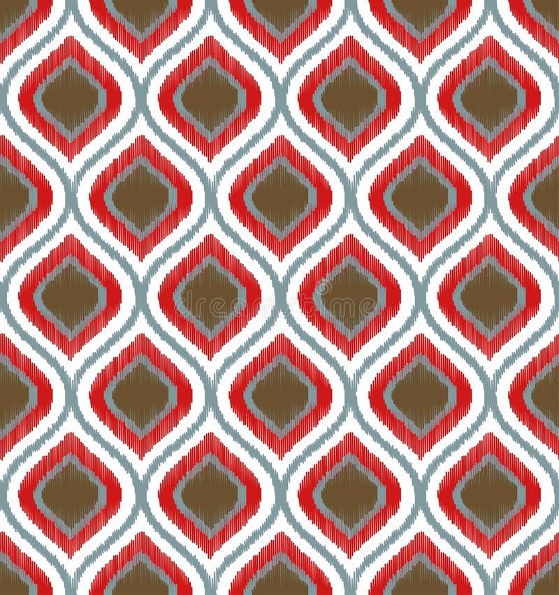 Modèle sans couture de maille d'ornement de griffonnage illustration de vecteur