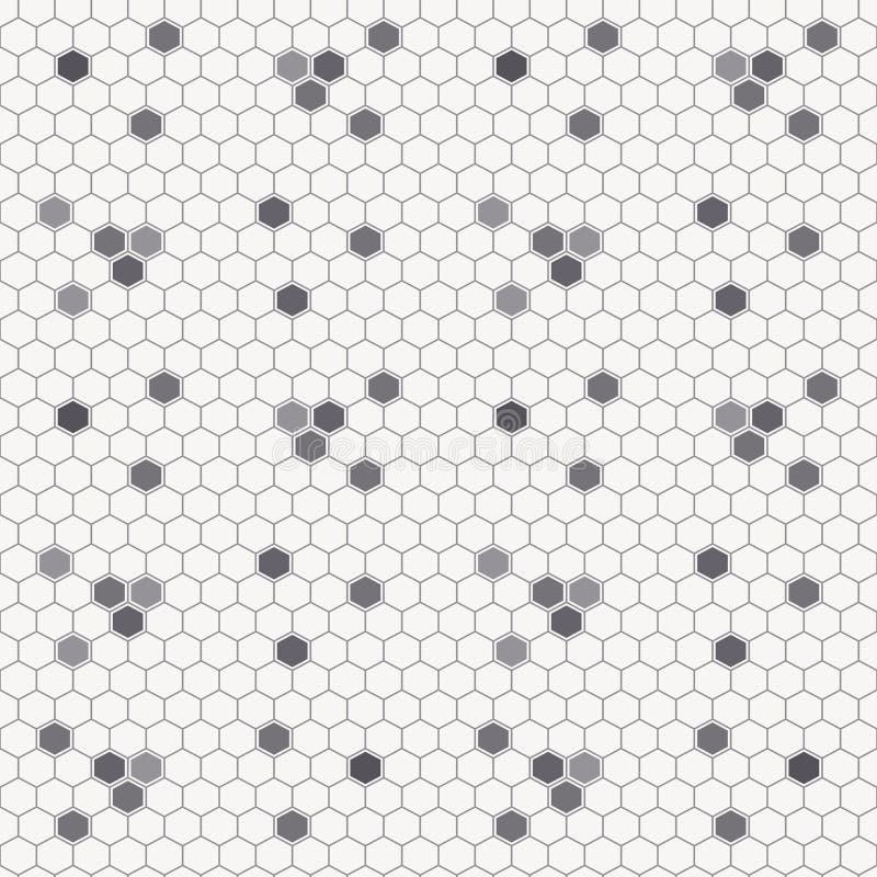 Modèle sans couture de miel avec les cellules décrites de miel illustration de vecteur