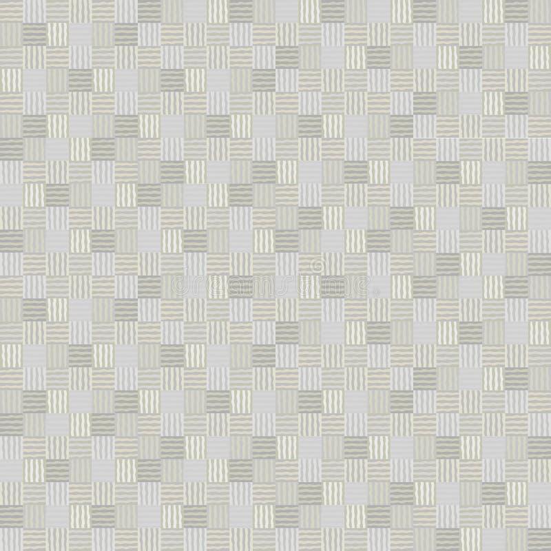 Modèle sans couture de mosaïque de patchwork géométrique abstrait de vecteur illustration de vecteur