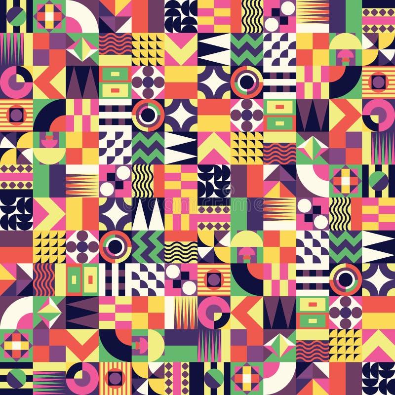 Modèle sans couture de mosaïque géométrique illustration libre de droits