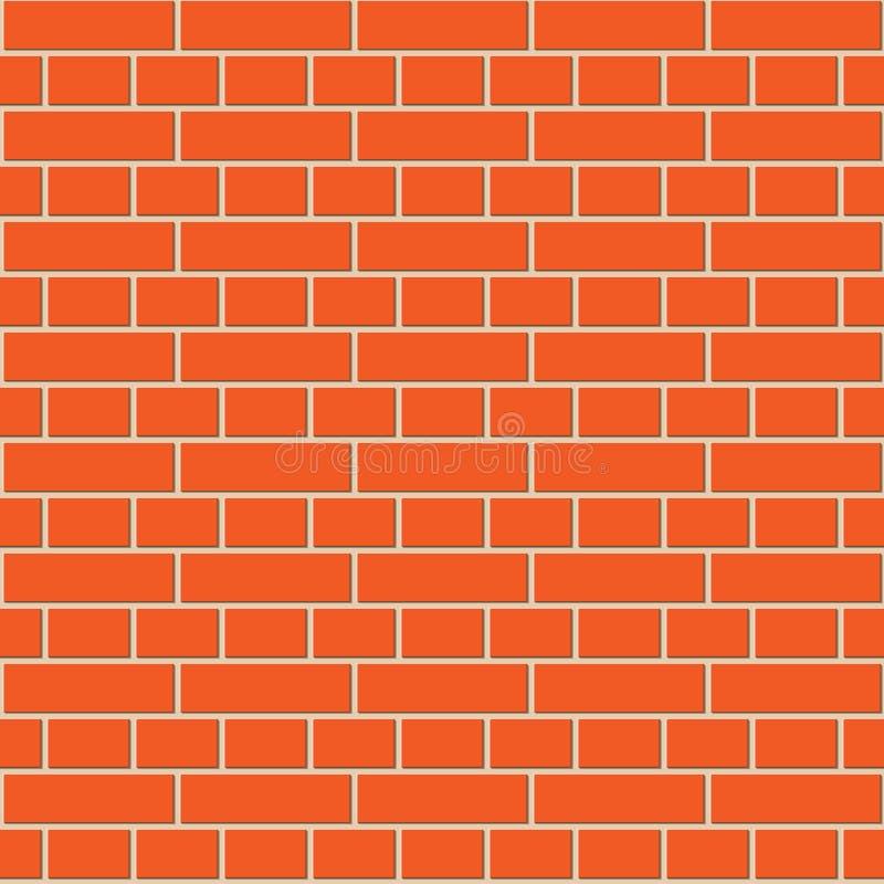 Modèle sans couture de mur de briques rouge illustration stock
