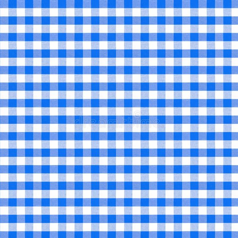 Modèle sans couture de nappe bleue de pique-nique illustration de vecteur