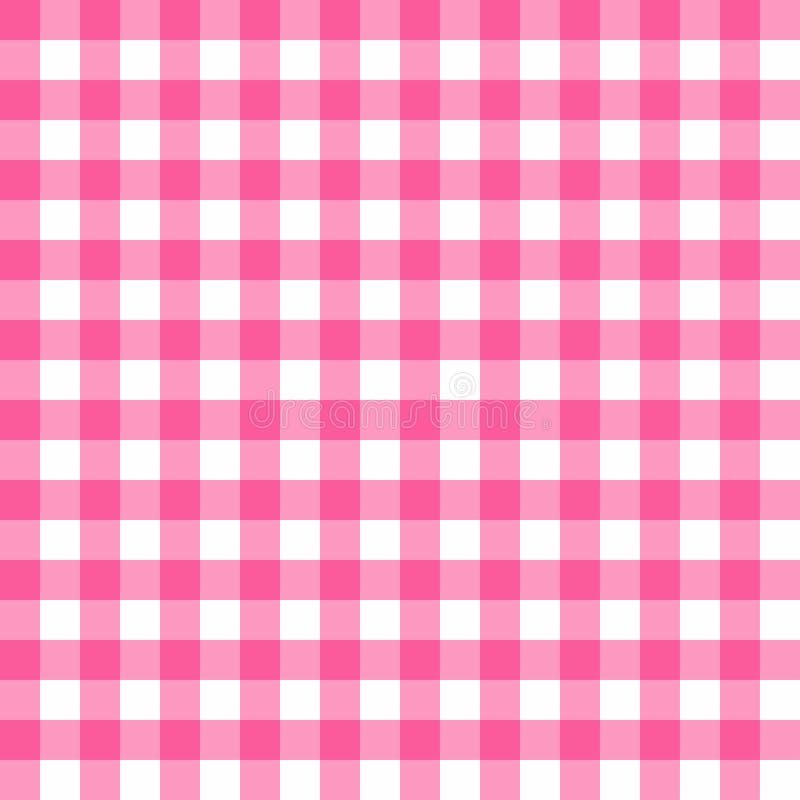 Modèle sans couture de nappe de pique-nique Texture rose de plaid de pique-nique illustration libre de droits