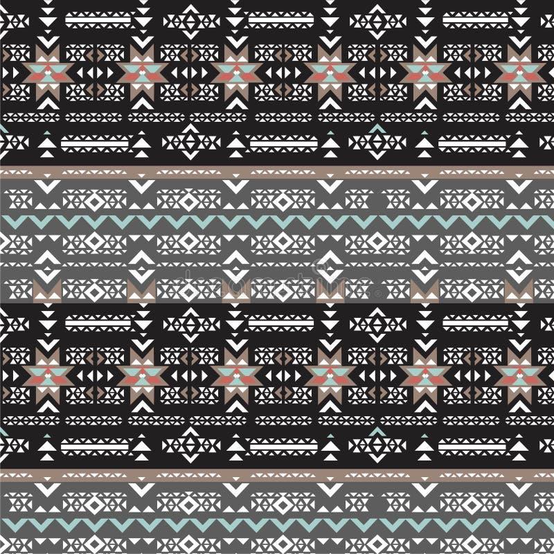 Modèle sans couture de Navajo de rétro vecteur tribal de couleurs Copie géométrique abstraite aztèque d'art illustration de vecteur