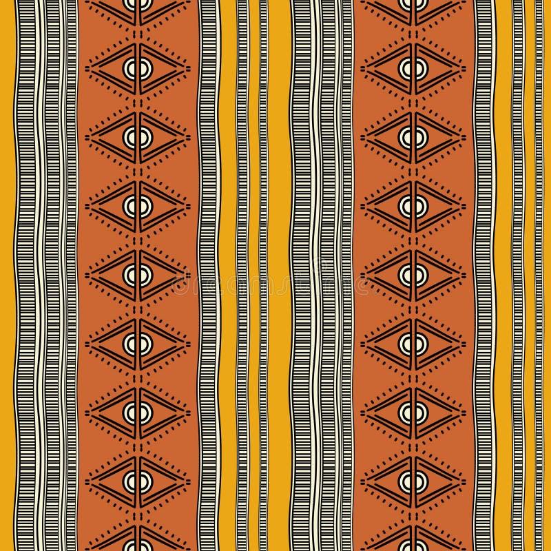 Modèle sans couture de Navajo de rétro vecteur tribal de couleurs Copie géométrique abstraite aztèque d'art fond ethnique de vect illustration stock