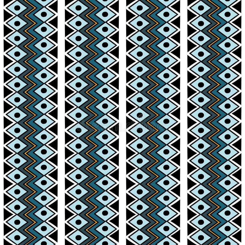 Modèle sans couture de Navajo de rétro vecteur tribal de couleurs Copie géométrique abstraite aztèque d'art fond ethnique de vect illustration libre de droits