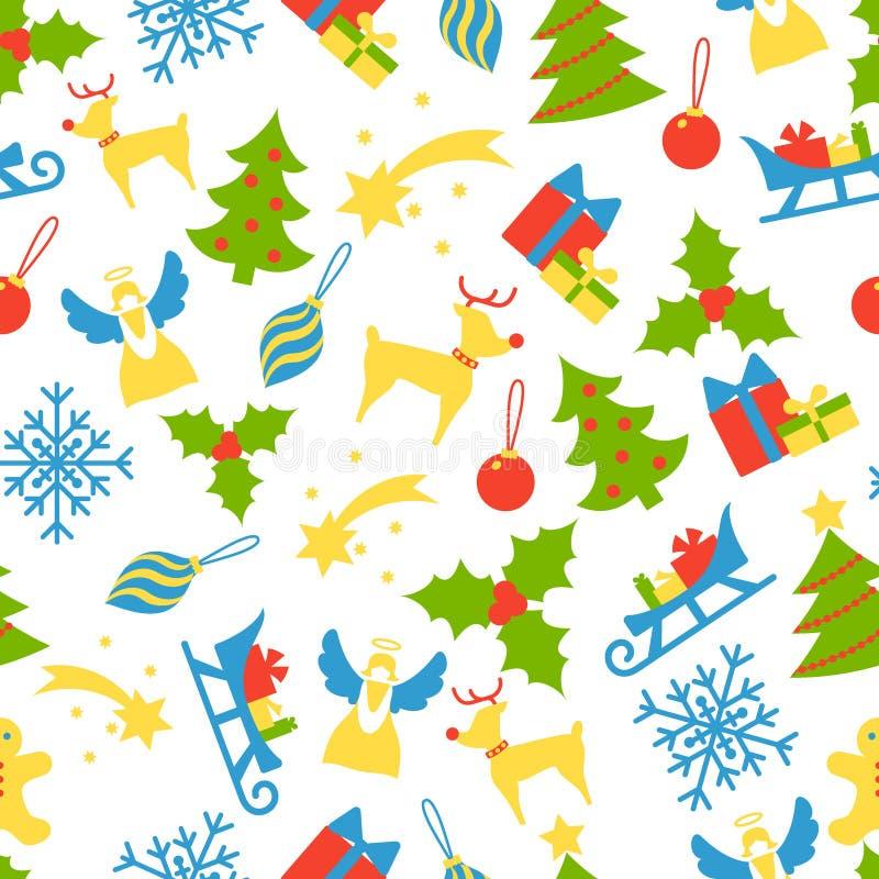 Modèle 1 sans couture de Noël illustration libre de droits