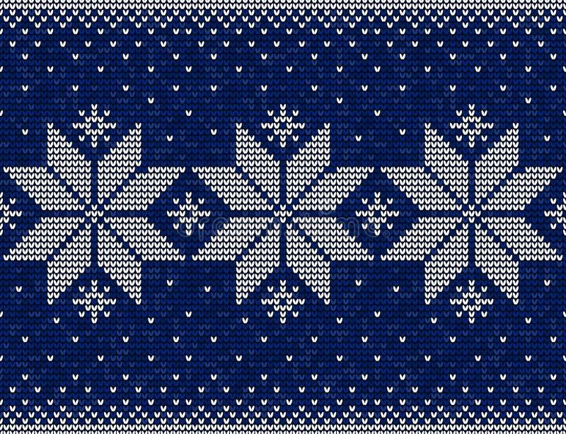 Modèle sans couture de Noël bleu et blanc avec le backgr de flocons de neige illustration de vecteur