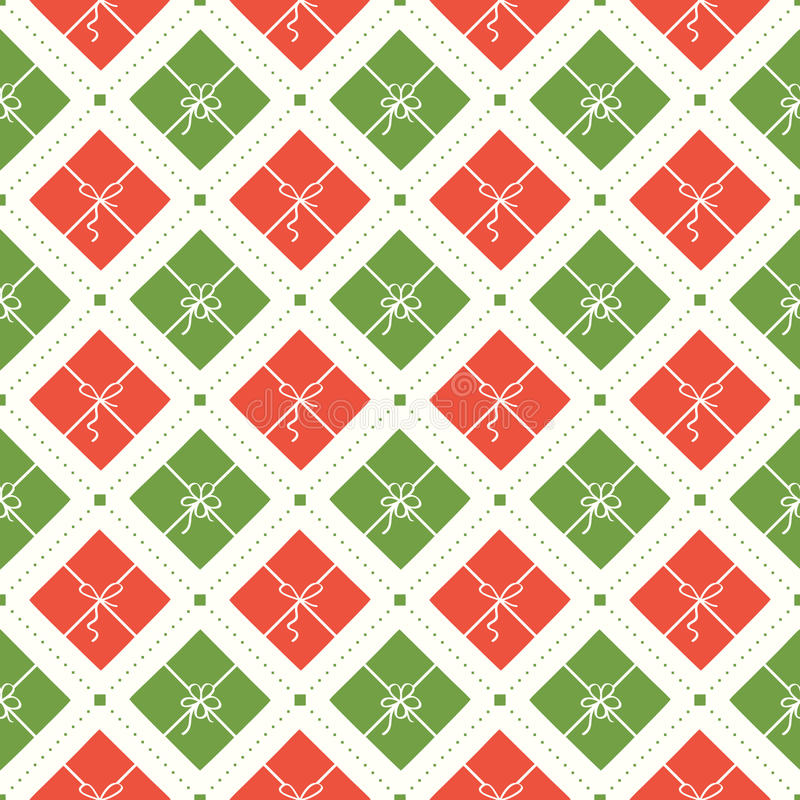 Modèle sans couture de Noël de vecteur illustration stock