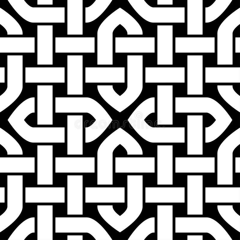 Modèle sans couture de noeud celtique ou oriental, illustration de vecteur illustration stock