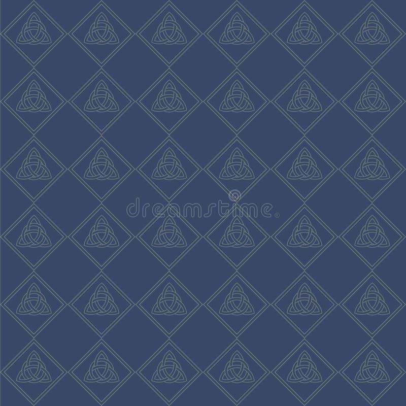 Modèle sans couture de noeud celtique illustration de vecteur