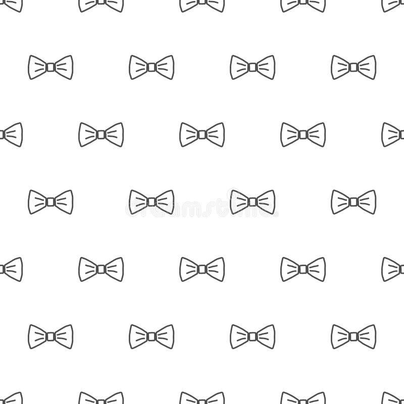 Modèle sans couture de noeud papillon illustration de vecteur