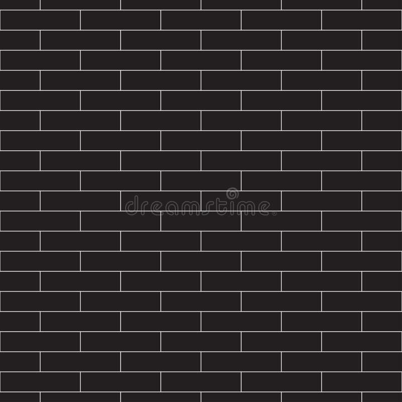 Modèle sans couture de noir de vecteur avec le mur de briques illustration libre de droits