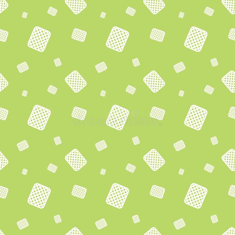 Modèle sans couture de nourriture de dessert de biscuit illustration de vecteur