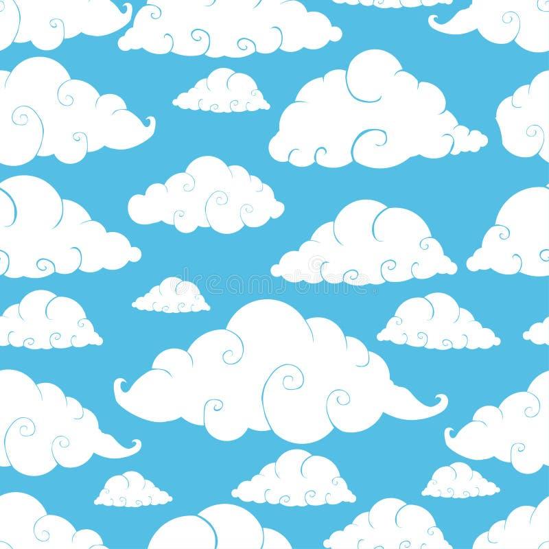 Modèle sans couture de nuage illustration libre de droits