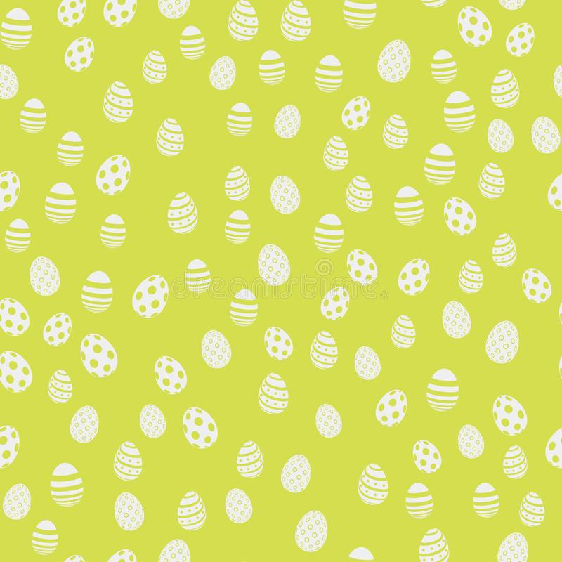 Modèle sans couture de Pâques avec des oeufs sur le fond vert Vecteur illustration libre de droits
