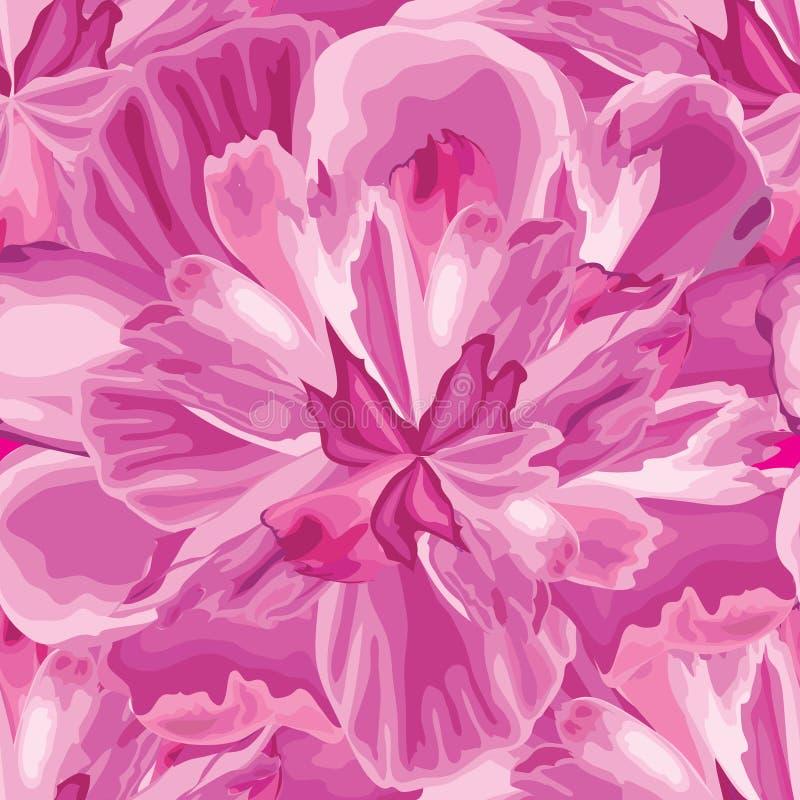 Modèle sans couture de pétale abstrait de fleur Fond texturisé Flo illustration stock