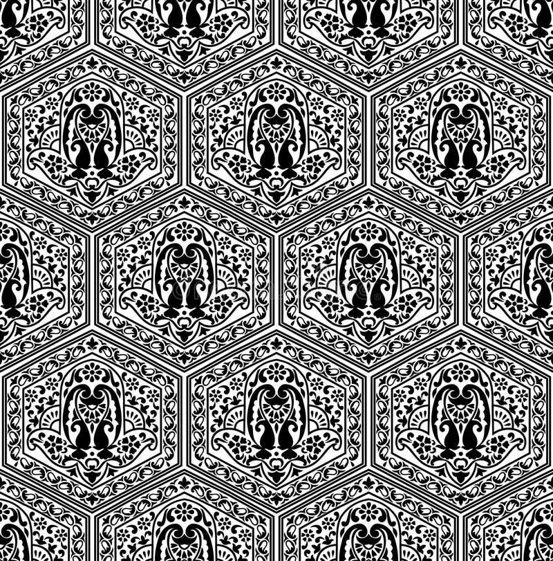 Modèle sans couture de Paisley illustration de vecteur
