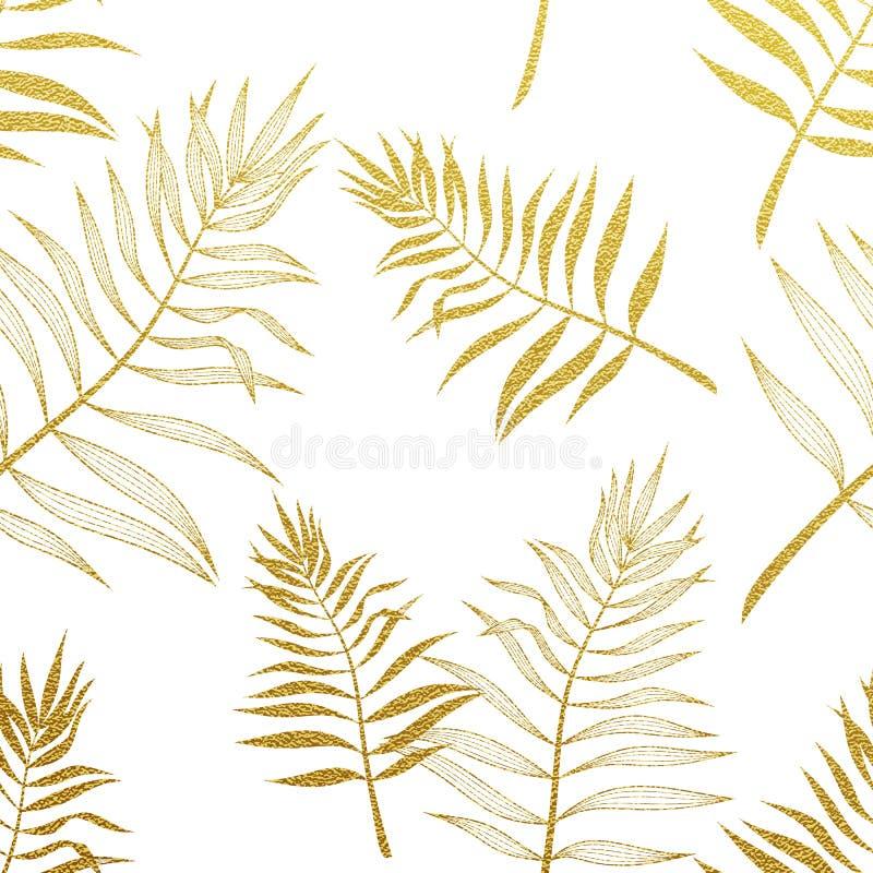 Modèle sans couture de palmettes Illustration botanique de vecteur illustration libre de droits