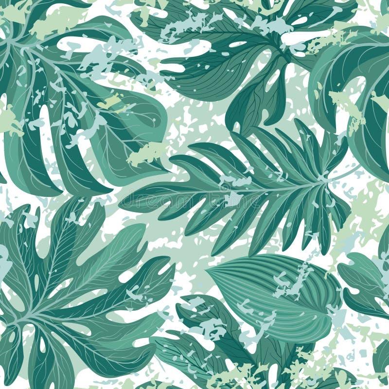 Modèle sans couture de palmettes de Tropcal Beau backgroun floral illustration de vecteur
