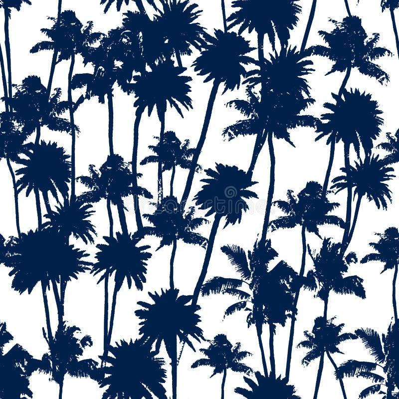 Modèle sans couture de palmiers de vecteur illustration libre de droits