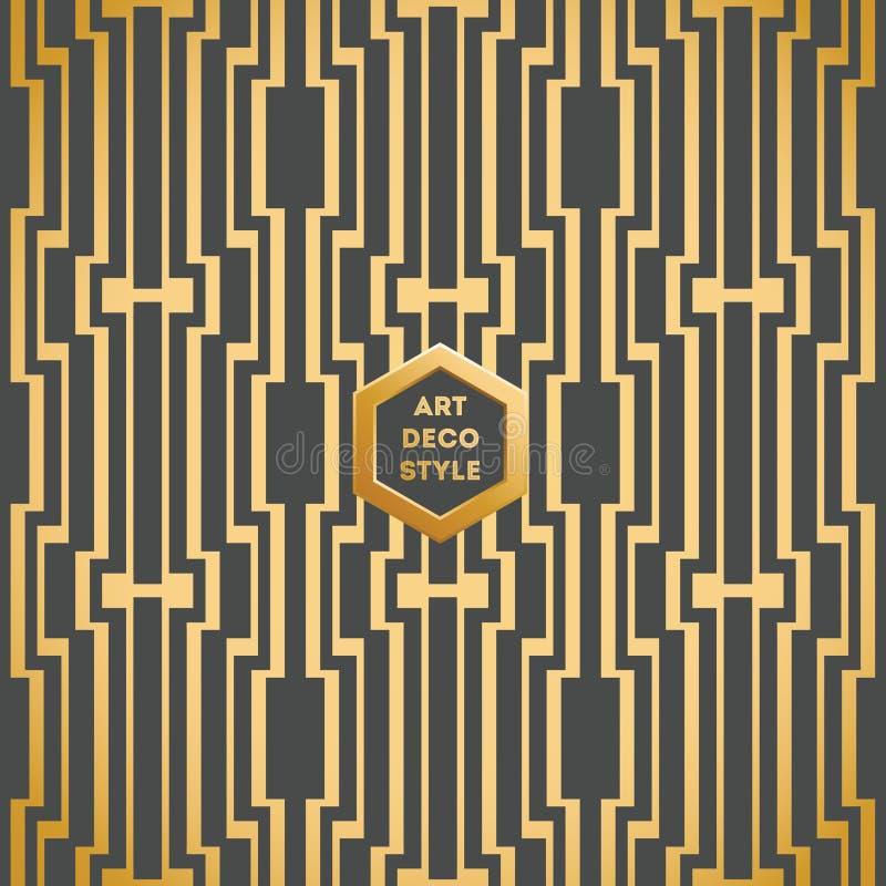 mod le sans couture de papier peint de vintage d 39 art deco illustration de vecteur illustration. Black Bedroom Furniture Sets. Home Design Ideas