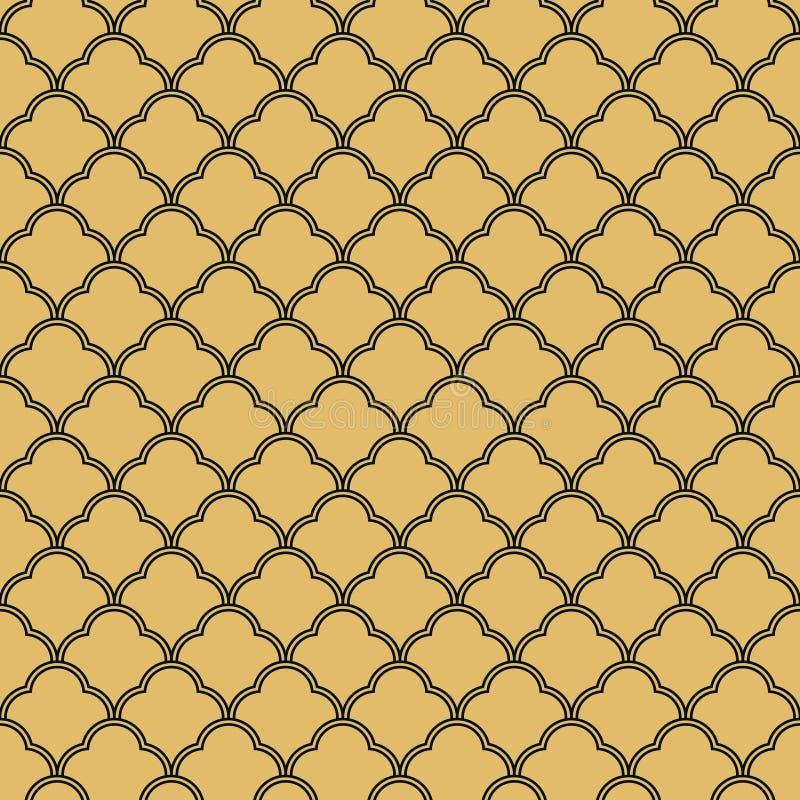 Modèle sans couture de papier peint de vintage d'Art Deco illustration stock