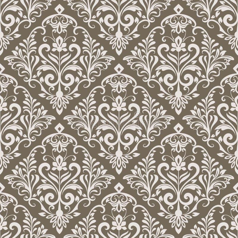 Modèle sans couture de papier peint floral de vintage illustration libre de droits