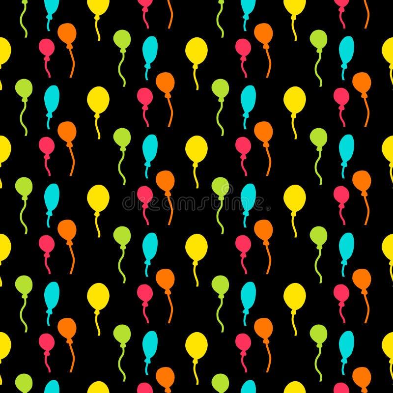 Modèle sans couture de partie drôle avec la décoration colorée de ballons illustration libre de droits