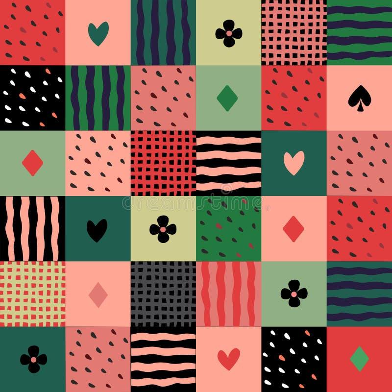 Modèle sans couture de patchwork coloré illustration libre de droits