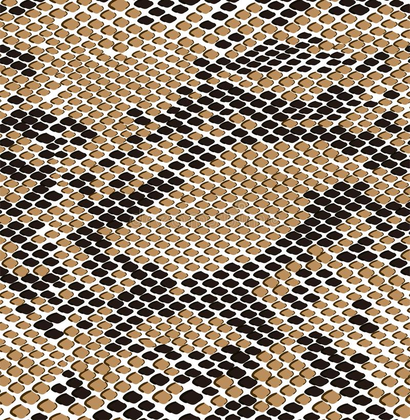 Mod?le sans couture de peau de brun de serpent Texture sans couture de reptile Copie animale Texture sans fin moderne pour le tex images libres de droits
