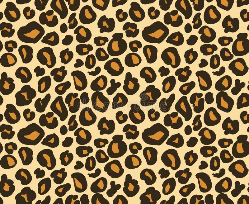 Modèle sans couture de peau de léopard/guépard, fond animal abstrait, illustration de vecteur illustration libre de droits