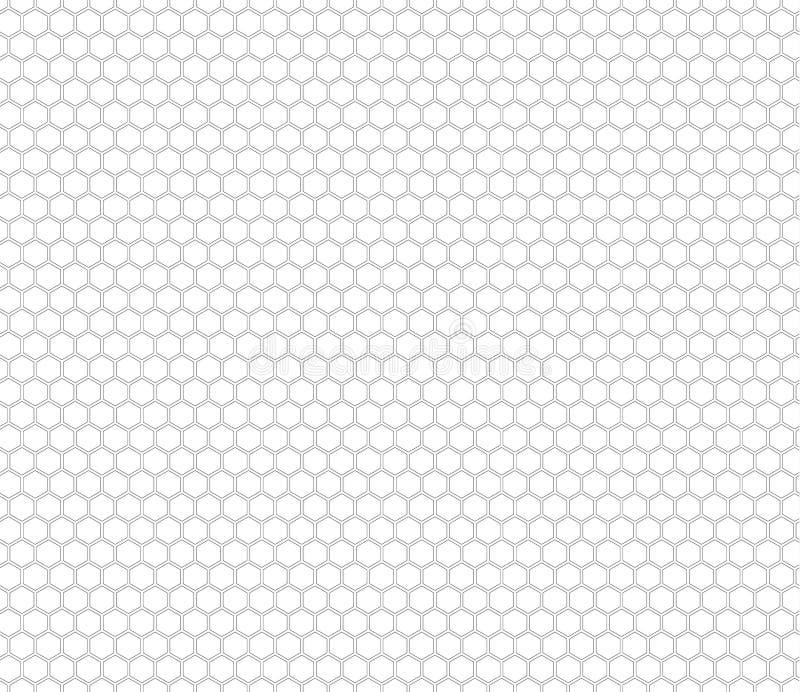 Modèle sans couture de peigne de miel illustration stock