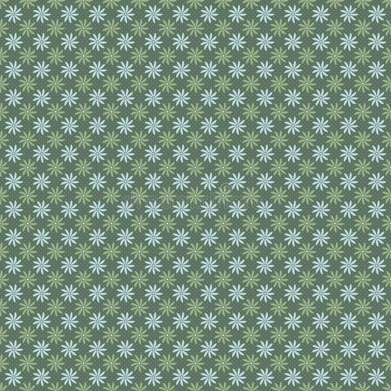 Modèle sans couture de petites fleurs sur le fond vert illustration de vecteur