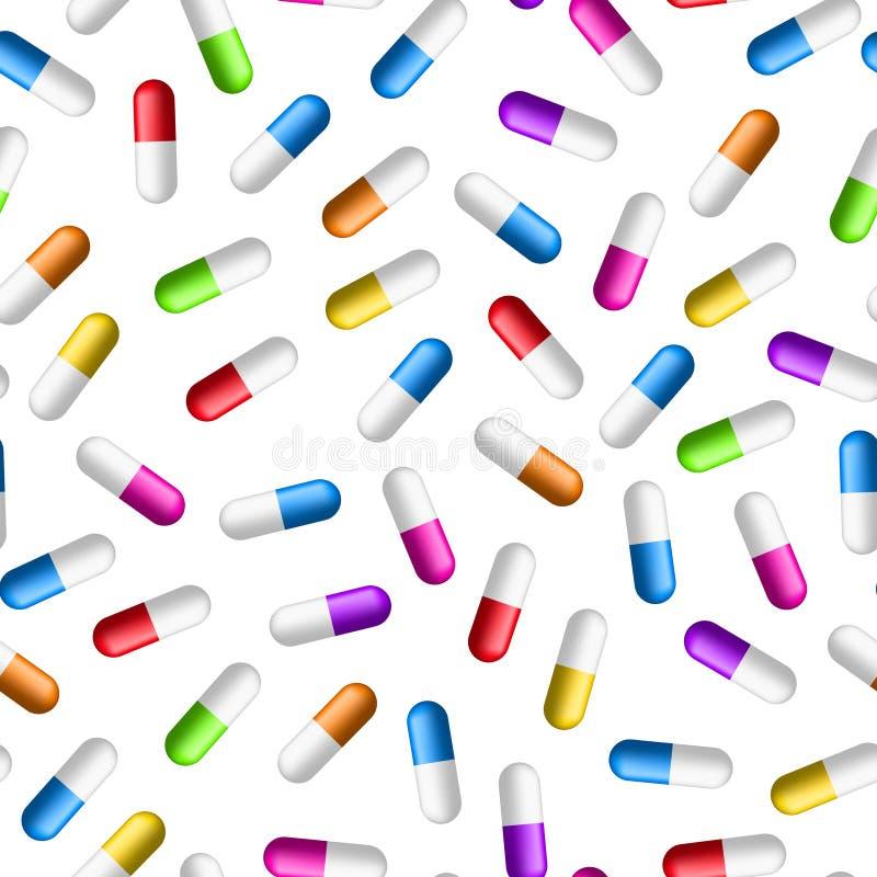 Modèle sans couture de pilules illustration libre de droits