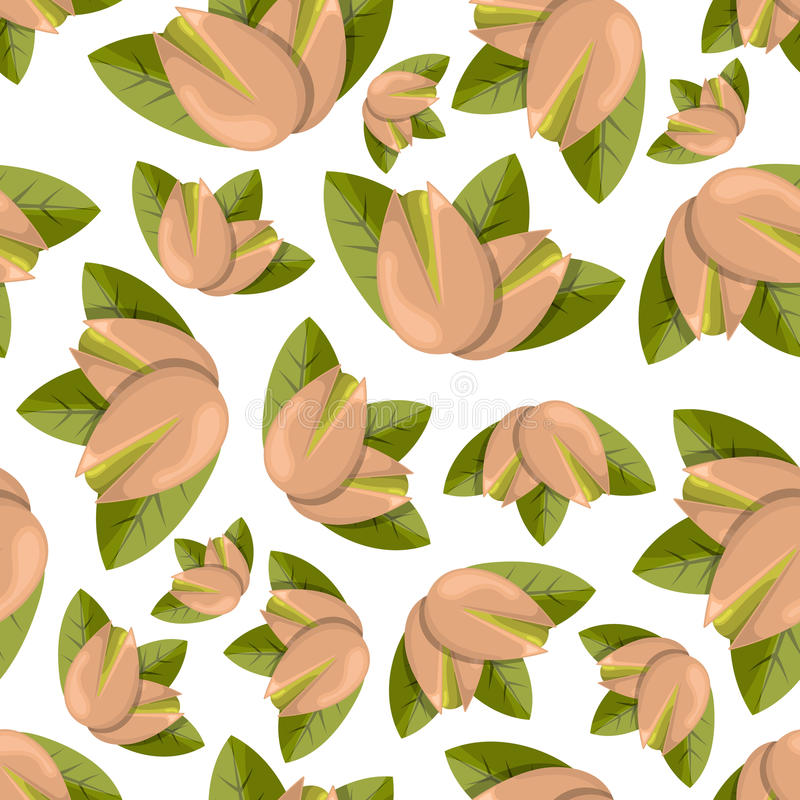 Modèle sans couture de pistaches illustration stock