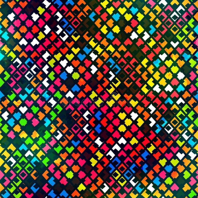 Modèle sans couture de pixel illustration de vecteur