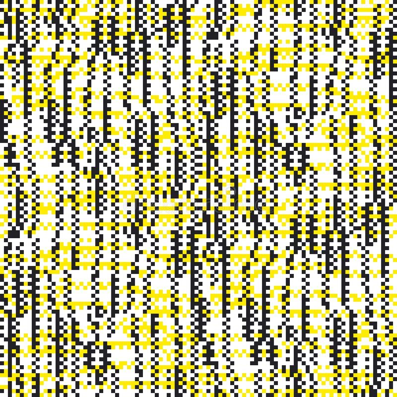 Modèle sans couture de pixel carré avec l'effet de problème illustration stock