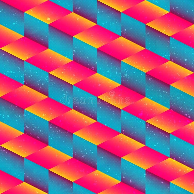 Modèle sans couture de places géométriques lumineuses illustration libre de droits
