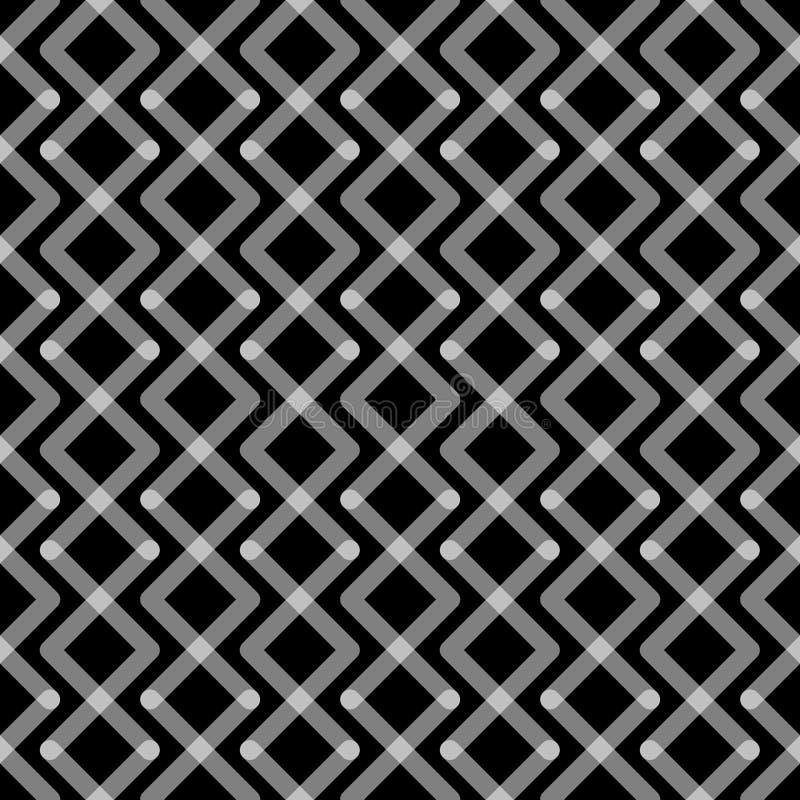 Modèle sans couture de places noires et blanches illustration de vecteur