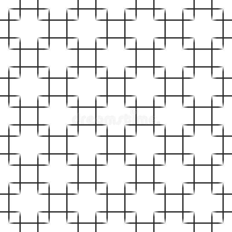 Modèle sans couture de places noires sur le fond blanc Belle illustration EPS10 de vecteur illustration de vecteur