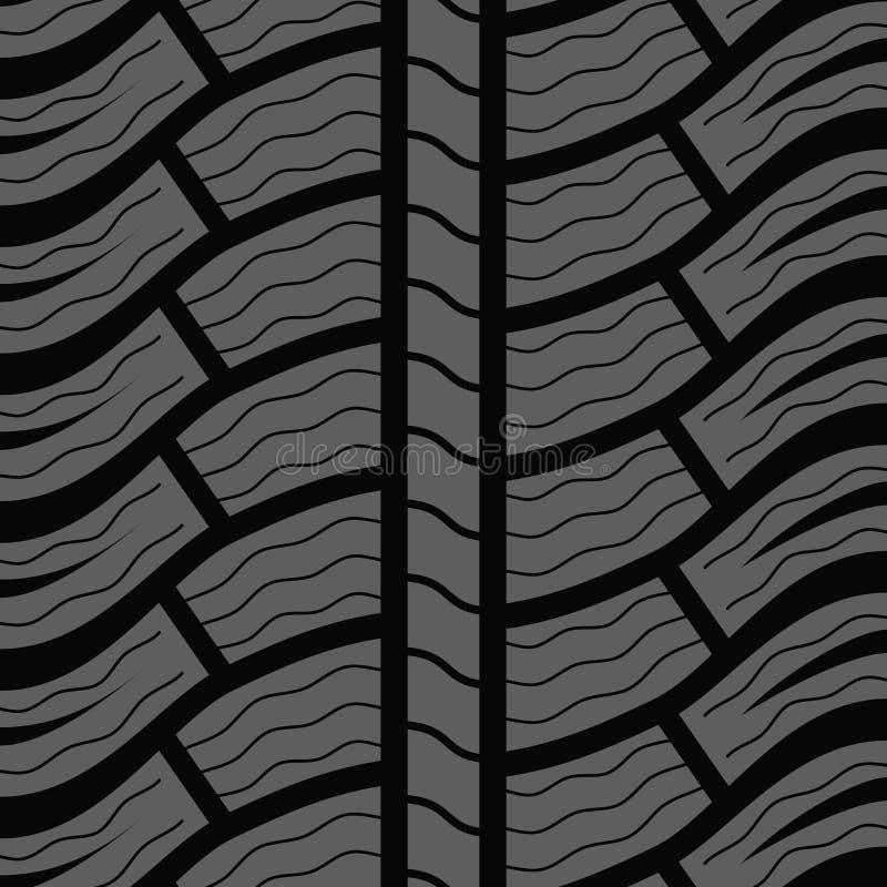 Modèle sans couture de pneu d'hiver illustration libre de droits