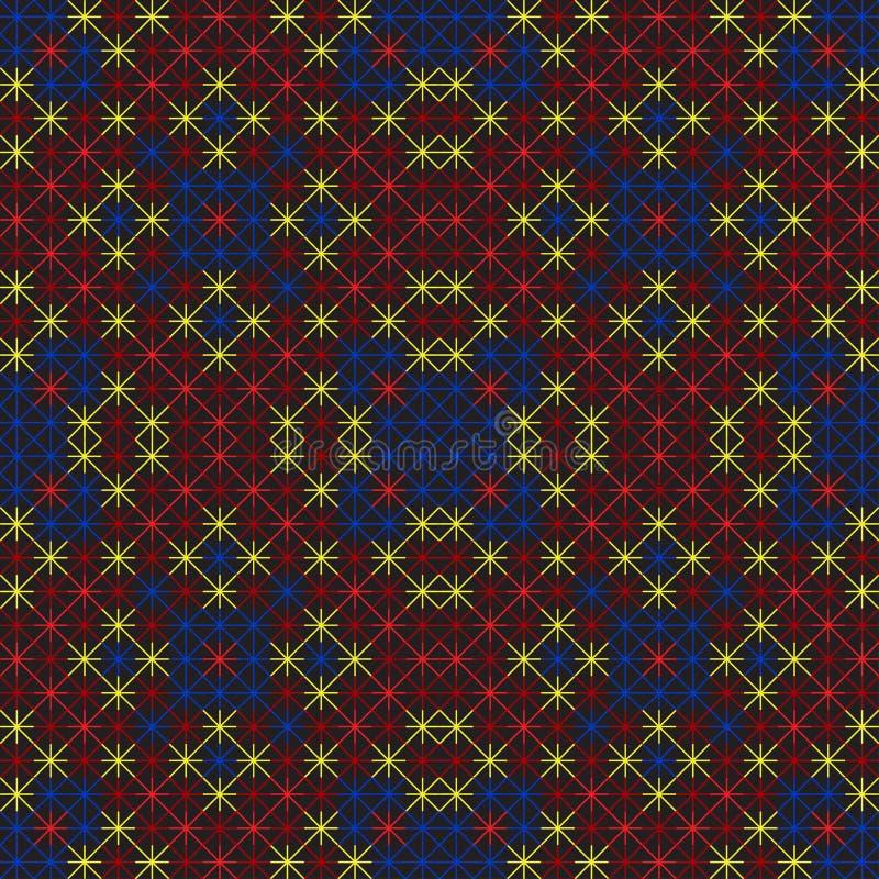 Modèle sans couture de point de croix illustration de vecteur