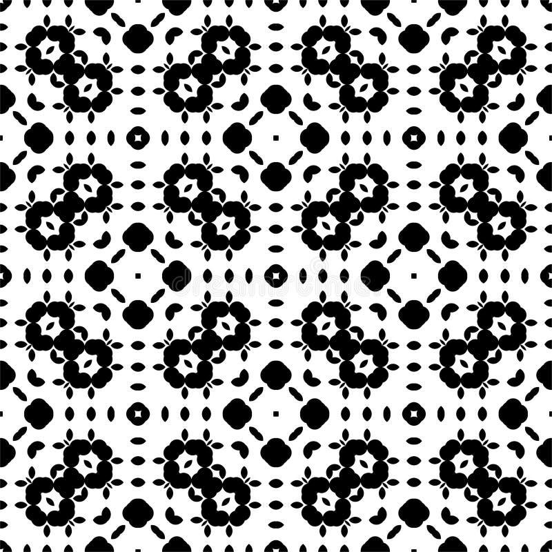 Modèle sans couture de point et de feuille à l'arrière-plan blanc illustration de vecteur