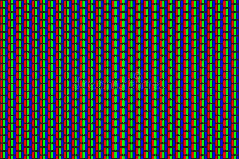Modèle sans couture de points de trame de RVB Télévision d'aftichage analogique Fermez-vous vers le haut de la texture illustration libre de droits