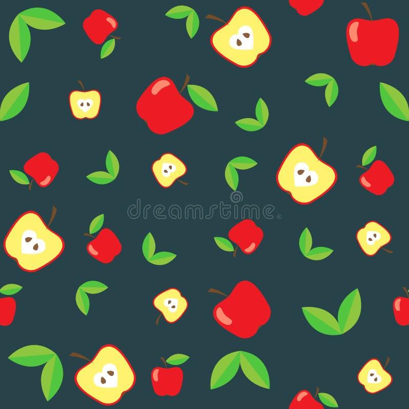Modèle sans couture de pomme abstraite illustration de vecteur