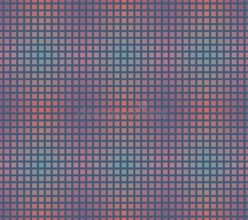 Modèle sans couture de répétition de grille d'échantillon de gradient illustration libre de droits